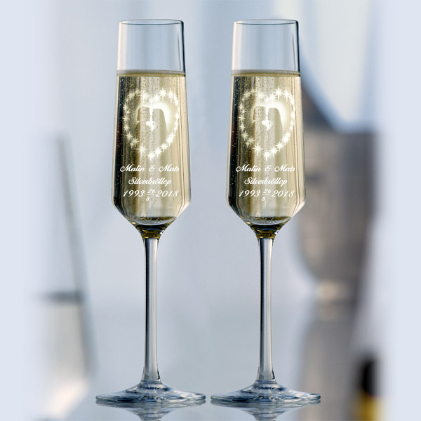 2 st Champagneglas Amore