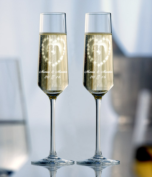 Champagneglas 2 st Amore